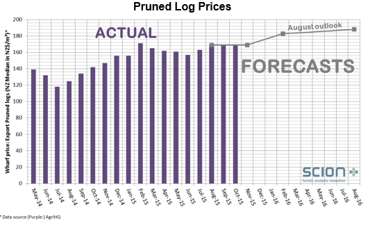 Pruned Log prices