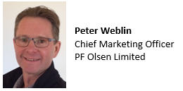 Peter Weblin, Marketing Manager, PF Olsen